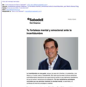 Email publicidad Banco Sabadell