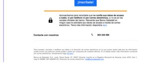 Pie de página email publicidad Banco Sabadell